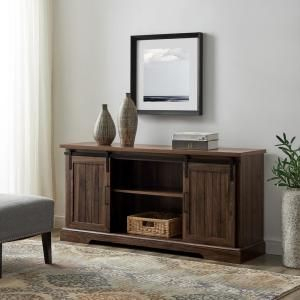 Well Known Walnut Tv Cabinets With Doors Intended For Welwick Designs 48 In (View 10 of 15)
