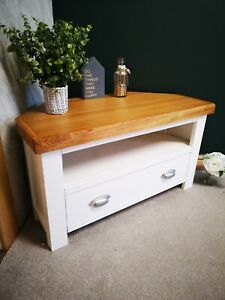 Well Known White Corner Tv Cabinets With White Oak Corner Tv Unit – Painted Small Cabinet – Modern (View 15 of 15)