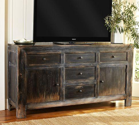 Well Known White Painted Tv Cabinets Throughout Dawson Media Consoles – Pottery Barn (View 4 of 15)