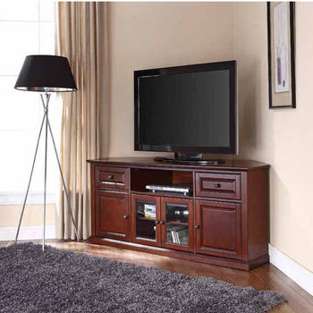 Well Known Winsome Wood Zena Corner Tv & Media Stands In Espresso Finish Inside Television Stands Featuring Open Or Covered Storage (View 3 of 15)