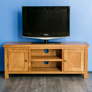 Well Liked Carbon Extra Wide Tv Unit Stands With Surrey Oak Large Tv Unit Stand Rustic Solid Wood Wide (View 2 of 15)