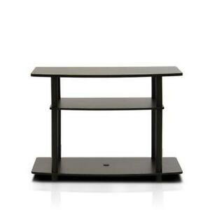 Well Liked Furinno 2 Tier Elevated Tv Stands Inside Furinno Turn N Tube No Tools 3 Tier Tv Stands, Dark Brown (View 8 of 15)