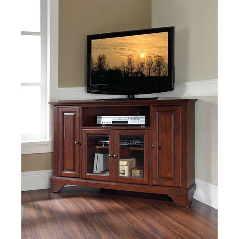 Well Liked Mahogany Tv Stands Inside Crosley Lafayette 48 In (View 3 of 15)