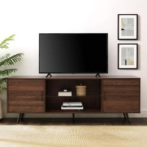 Well Liked Modern Black Tv Stands On Wheels Intended For 52 In (View 9 of 15)