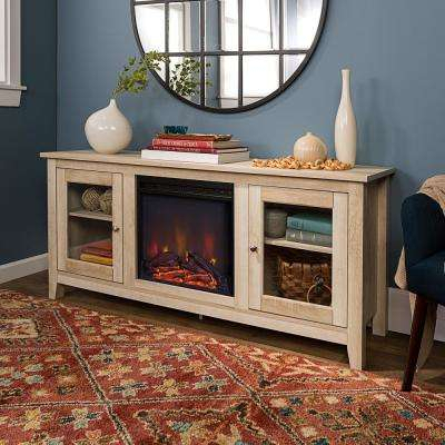 Well Liked Rustic White Tv Stands Inside White – Rustic – Fireplace Tv Stands – Electric Fireplaces (View 7 of 15)