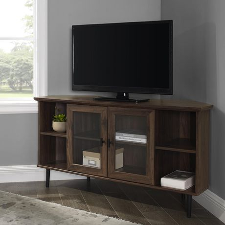 Well Liked Tv Cabinets With Glass Doors Pertaining To Modern Simple Glass Door Corner Tv Console For Tv'S Up To (View 1 of 15)