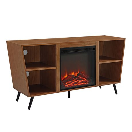 Well Liked Tv Stands With Led Lights In Multiple Finishes Throughout Manor Park Mid Century Modern Hairpin Fireplace Tv Stand (View 8 of 15)