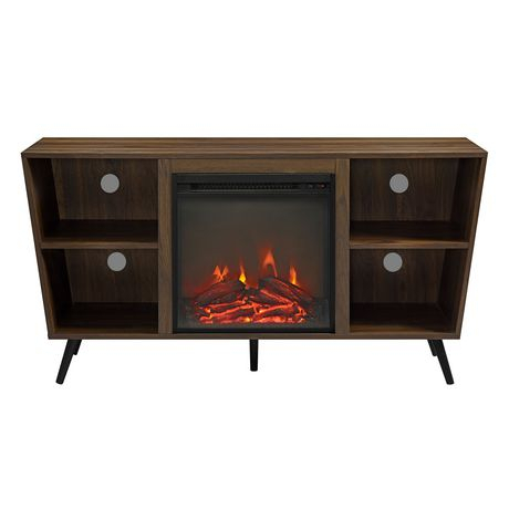 Well Liked Tv Stands With Led Lights In Multiple Finishes With Regard To Manor Park Mid Century Modern Hairpin Fireplace Tv Stand (View 15 of 15)