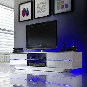 Well Liked White High Gloss Tv Stands Throughout Sienna Tv Stand Unit In White High Gloss With Multi Led (View 14 of 15)