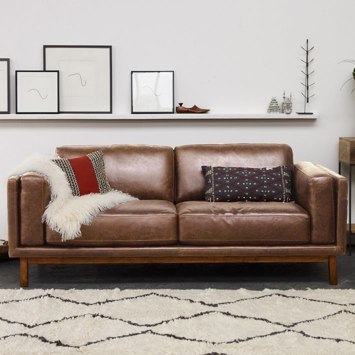 West Elm Dekalb | West Elm Leather Sofa, Leather Sofa In West Elm Sectional Sofas (View 5 of 15)
