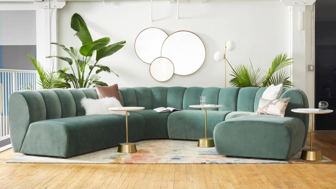 West Elm Work Belle Tufted Sectional | Steelcase Intended For West Elm Sectional Sofas (View 3 of 15)