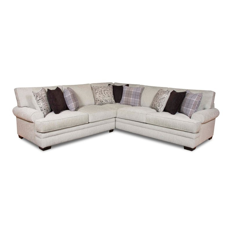 White And Gray 2 Piece Sectional Sofa With Laf Loveseat In Turdur 2 Piece Sectionals With Laf Loveseat (View 9 of 15)