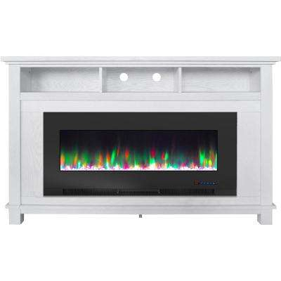 White – Electric Fireplaces – Fireplaces – The Home Depot Regarding Newest Jackson Corner Tv Stands (View 1 of 15)