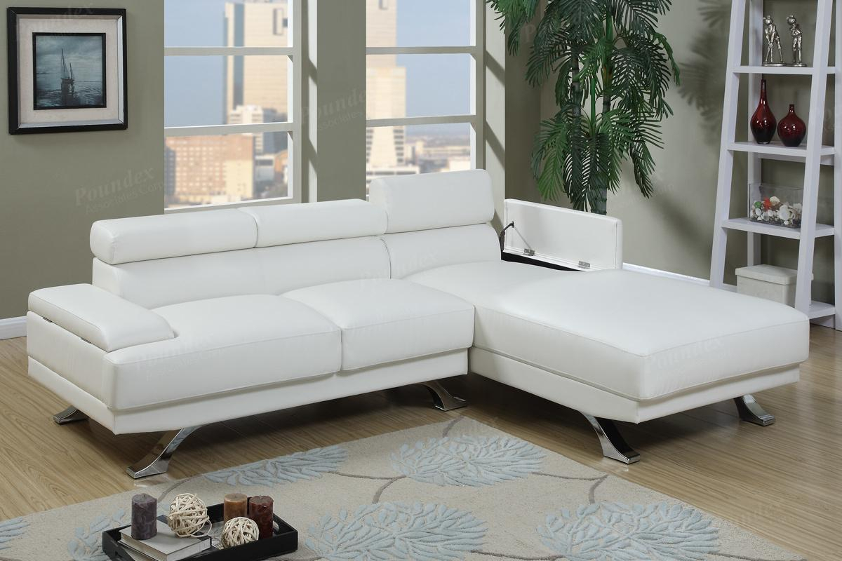 White Leather Sectional Sofa – Steal A Sofa Furniture Pertaining To Los Angeles Sectional Sofas (View 14 of 15)
