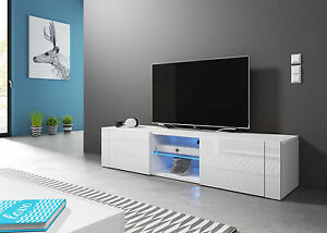 White Modern Tv Stand Hit 140 Tv Cabinet Lowboard Tv Unit For Favorite 57'' Led Tv Stands Cabinet (View 14 of 15)