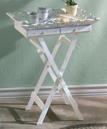 White Wood Folding Tv Tray Table Drawer Stand, Drawers With Trendy White Painted Tv Cabinets (View 15 of 15)