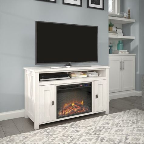 """Whittier Tv Stand For Tvs Up To 50"""" With Electric In 2018 Neilsen Tv Stands For Tvs Up To 50"""" With Fireplace Included (View 9 of 15)"""