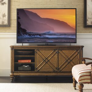 """Widely Used Chrissy Tv Stands For Tvs Up To 75"""" Inside Tommy Bahama Home Bali Hai Solid Wood Tv Stand For Tvs Up (View 12 of 15)"""