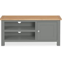 Widely Used Compton Ivory Extra Wide Tv Stands In Dunelm 5054077927222 Lucy Cane Grey Corner Tv Stand Slate (View 1 of 15)