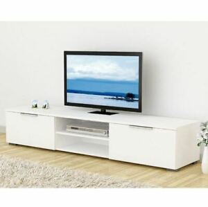 Widely Used High Gloss Tv Cabinets Intended For Tv Stand Modern High Gloss White Unit Cabinet 2 Drawers (View 4 of 15)