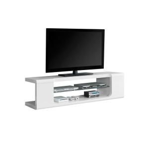 Widely Used Modern White Gloss Tv Stands Regarding Monarch Specialties Monarch Specialties 59 In (View 12 of 15)