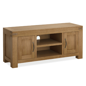 Widely Used Rustic Country Tv Stands In Weathered Pine Finish Intended For Chunky Large Oak Tv Stand Unit 125Cm Solid Wood Rustic (View 1 of 15)