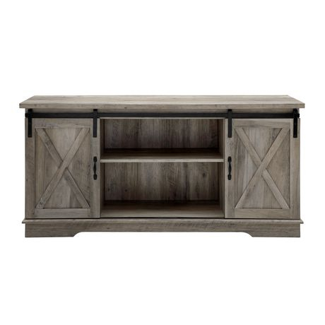 """Widely Used Tv Stands With Sliding Barn Door Console In Rustic Oak With Manor Park 58"""" Modern Farmhouse Sliding Barn Door Tv Stand (View 10 of 15)"""