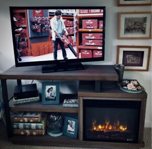 """Widely Used Twila Tv Stands For Tvs Up To 55"""" In Tv Stand With Electric Fireplace (View 13 of 15)"""