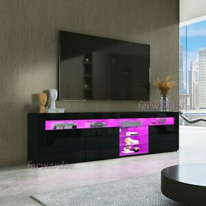 Widely Used Zimtown Tv Stands With High Gloss Led Lights Inside 180Cm Rgb Led Light Tv Stand Cabinet Entertainment Unit (View 8 of 15)