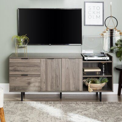 """Wrought Studio™ Pillar Tv Stand For Tvs Up To 65"""" Color Inside Most Recent Neilsen Tv Stands For Tvs Up To 65"""" (View 1 of 15)"""