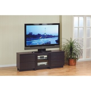 Wyndenhall Essex Coffee Brown Tv Media Stand For Tv'S Up Regarding Preferred Winsome Wood Zena Corner Tv & Media Stands In Espresso Finish (View 11 of 15)