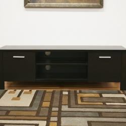 Wythe Dark Brown Modern Wood Tv Stand – Free Shipping In Popular Dark Wood Tv Stands (View 10 of 15)