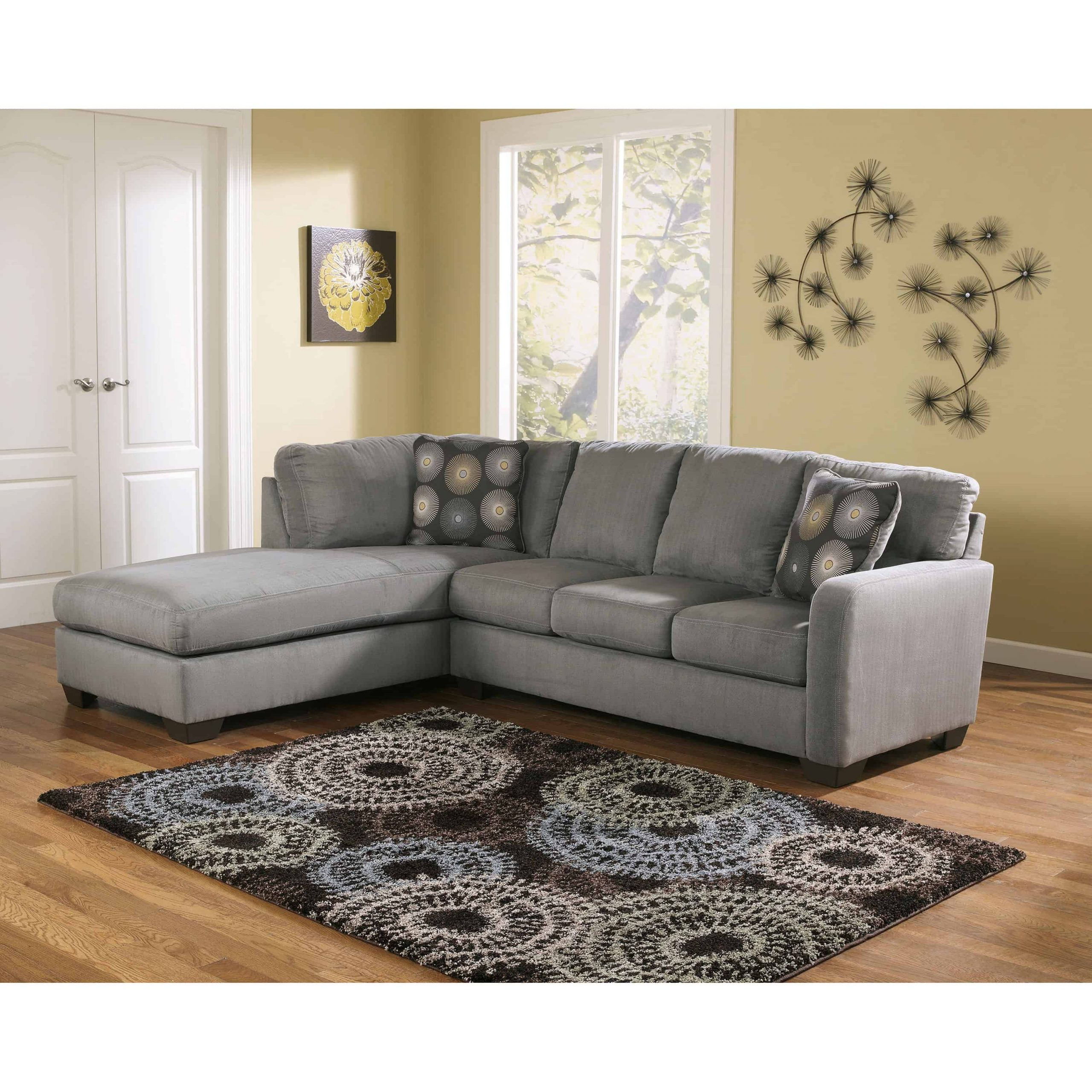 Zella 2 Piece Laf Chaise Sectional   Furnishmyhome (View 15 of 15)