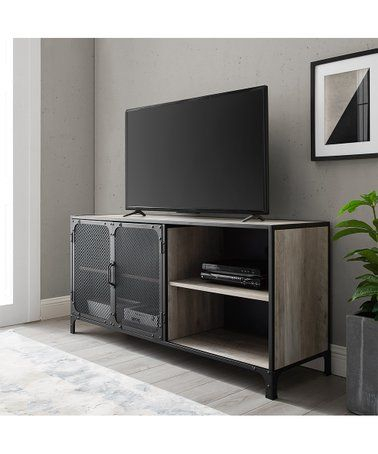 Zulily: Matching Our Coffee Table Grey Wash Metal Door Pertaining To Most Recent Tv Cabinets And Coffee Table Sets (View 2 of 15)
