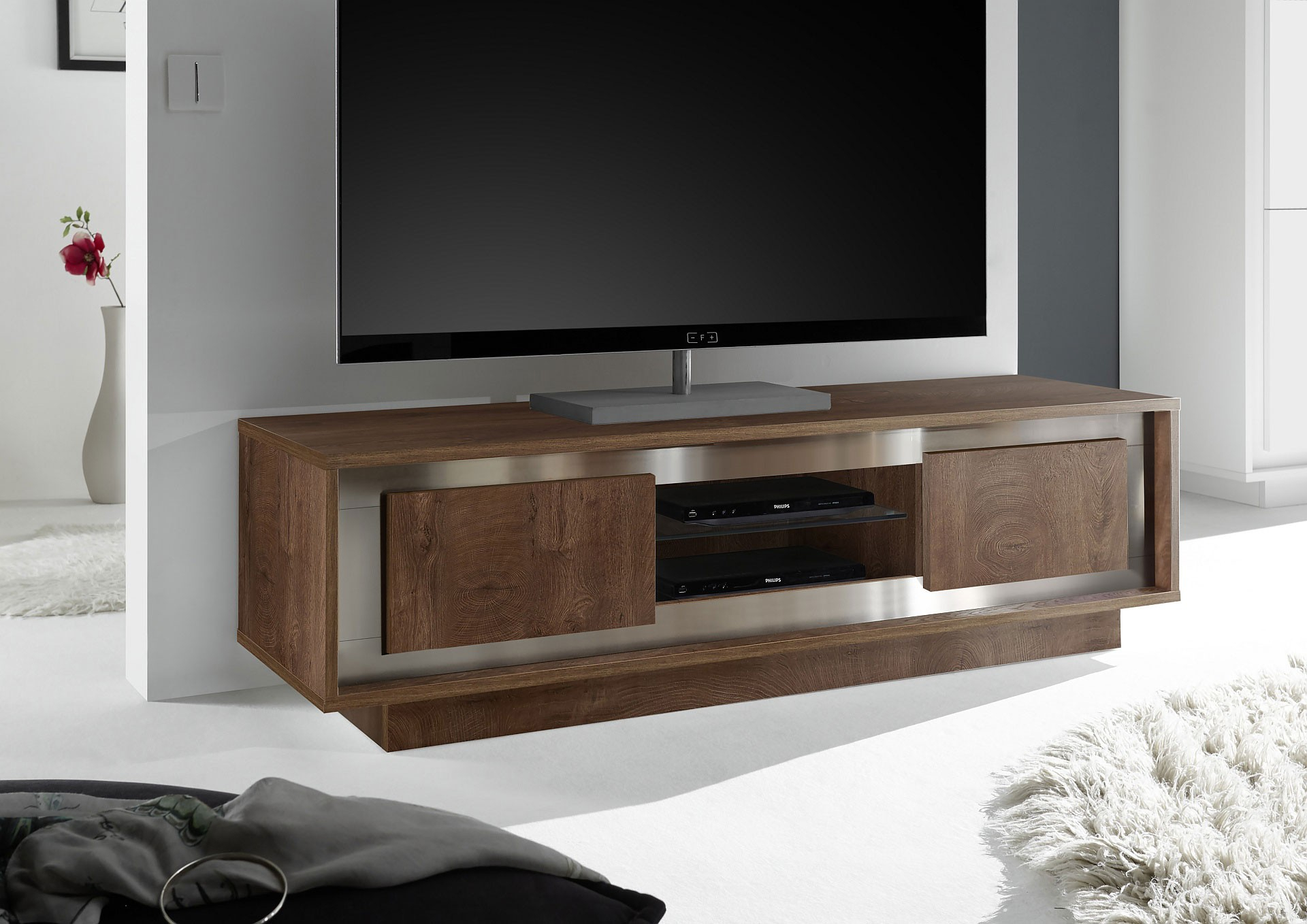 Contemporary Styled Tv Console Made In Italy Palo Alto Pertaining To Most Recent Samira Tv Stands (View 4 of 11)