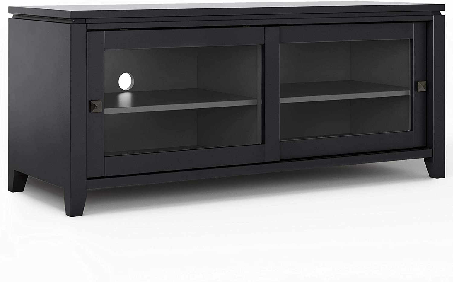 Cosmopolitan Solid Wood Universal Tv Media Stand, 48 Inch Inside Most Recent Claudia Brass Effect Wide Tv Stands (View 7 of 14)