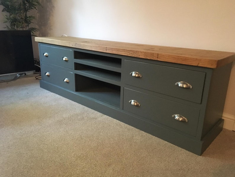Extra Large Tv Stand Big Long Tv Cabinet Stand Media Unit With Well Known Compton Ivory Large Tv Stands (View 11 of 11)