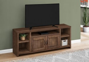 """I 2740 – Tv Stand – 60""""L / Brown Reclaimed Wood Look With Regard To Most Recent Claudia Brass Effect Wide Tv Stands (View 1 of 14)"""