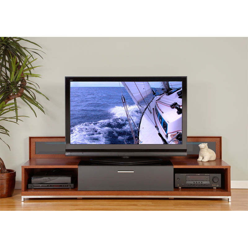 Plateau Valencia Series Backlit Modern Wood Tv Stand For Intended For Latest Modern Tv Stands (View 5 of 11)