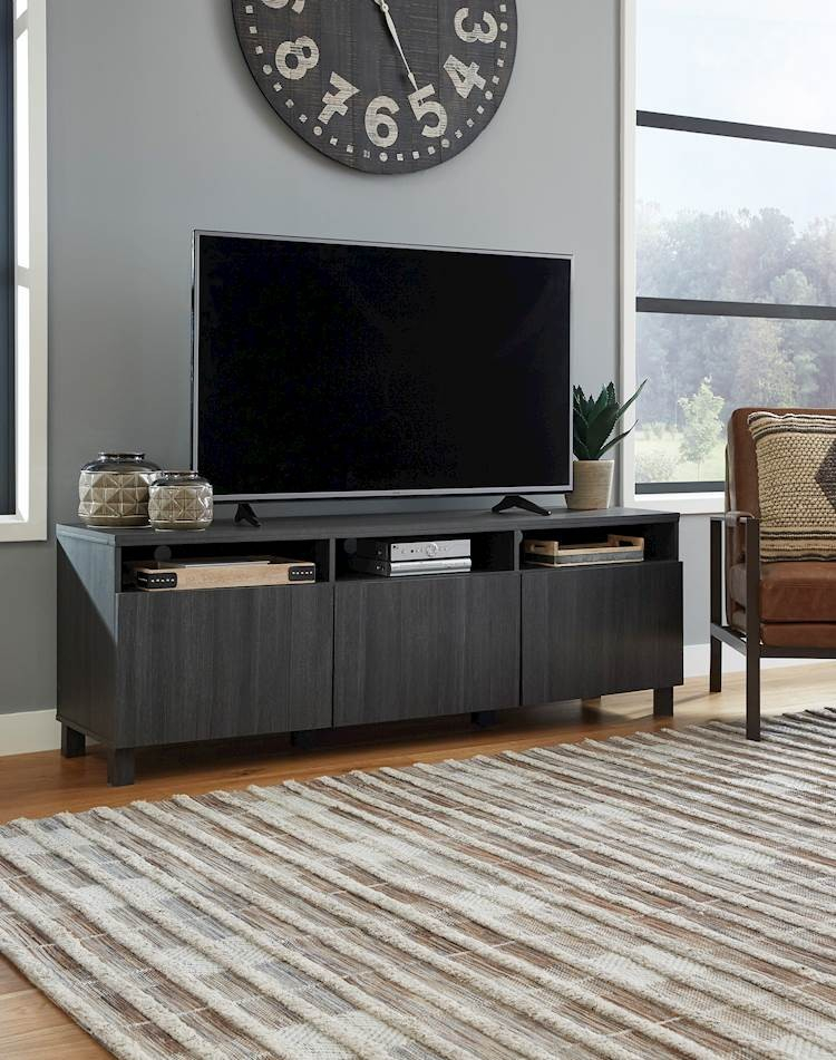 Yarlow Black Extra Large Tv Stand – Speedyfurniture Inside Well Known Ivory Large Tv Stands (View 10 of 11)