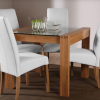 Glass and Oak Dining Tables and Chairs (Photo 2 of 25)
