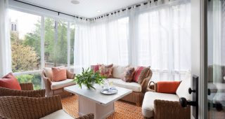 Simple Curtains For Triple Windows