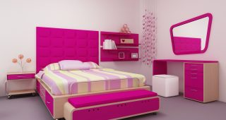 Bedroom Styles for Girls with Dressing Room