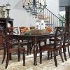 Weaver Dark 7 Piece Dining Sets With Alexa White Side Chairs (Photo 18 of 25)