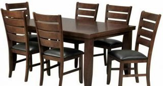 Bradford 7 Piece Dining Sets With Bardstown Side Chairs