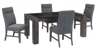 Palazzo 9 Piece Dining Sets With Pearson White Side Chairs
