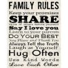 Family Rules Wall Art (Photo 2 of 20)