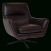 Chocolate Brown Leather Tufted Swivel Chairs (Photo 3 of 25)