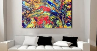 Abstract Oversized Canvas Wall Art