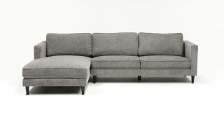 Cosmos Grey 2 Piece Sectionals With Laf Chaise